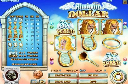 Almighty Dollar Slot - Rival Gaming - screencap